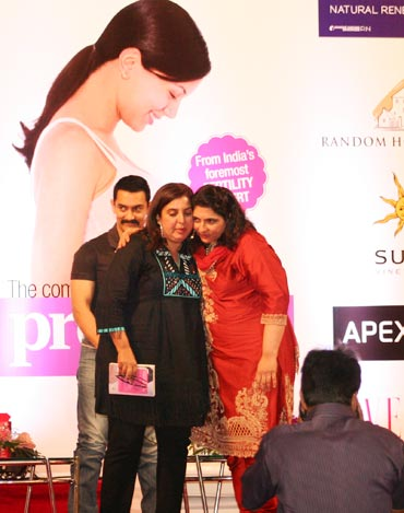 From left: Aamir Khan, Farah Khan and Dr Firuza Parikh