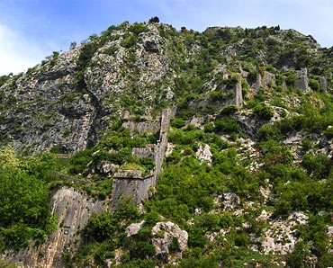 The ancient walls of Kotor.