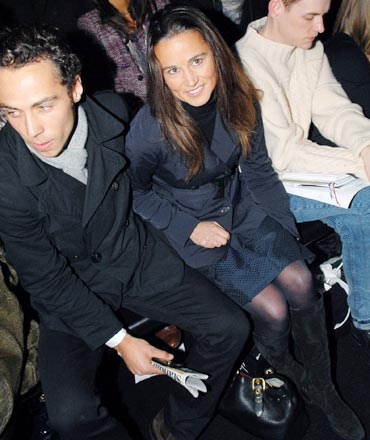 Pippa Middleton attends the Issa catwalk show during London Fashion Week on February 23, 2010 in London, England