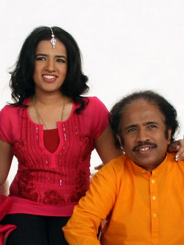 Bindu with her father L Subramaniam