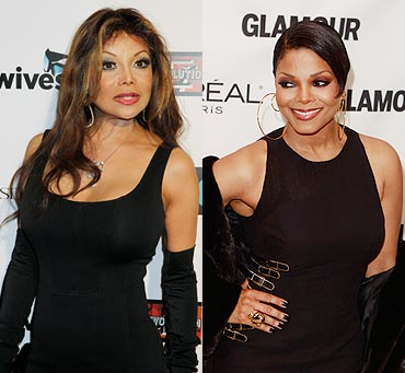 La Toya and Janet Jackson