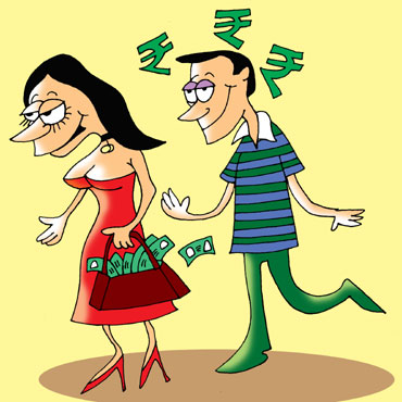 Doesn't matter if he earns lesser than her