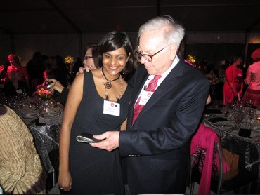 Stuti Jalan with Warren Buffett