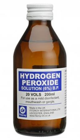 Wash underarms with hydrogen peroxide