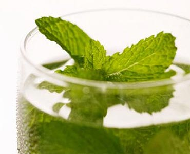 Add mint water to your bath water