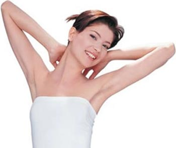 Rinse armpits with alcohol added to water