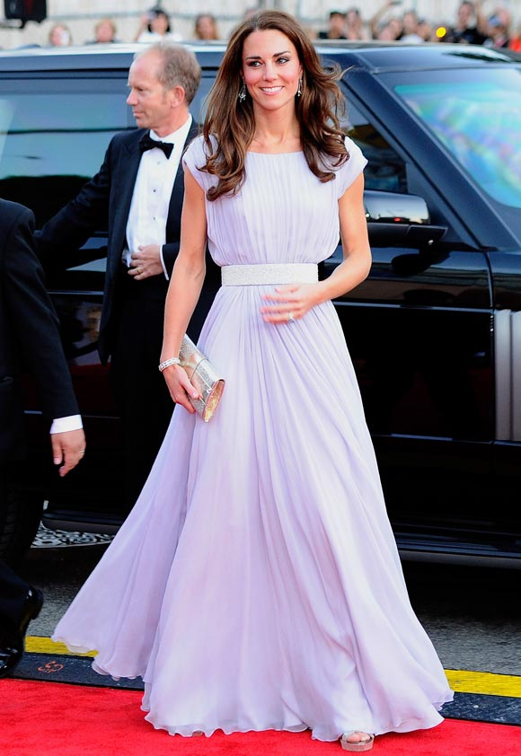 Catherine, Duchess of Cambridge arrives at the BAFTA Brits To Watch event held at the Belasco Theatre on July 9, 2011 in Los Angeles, California