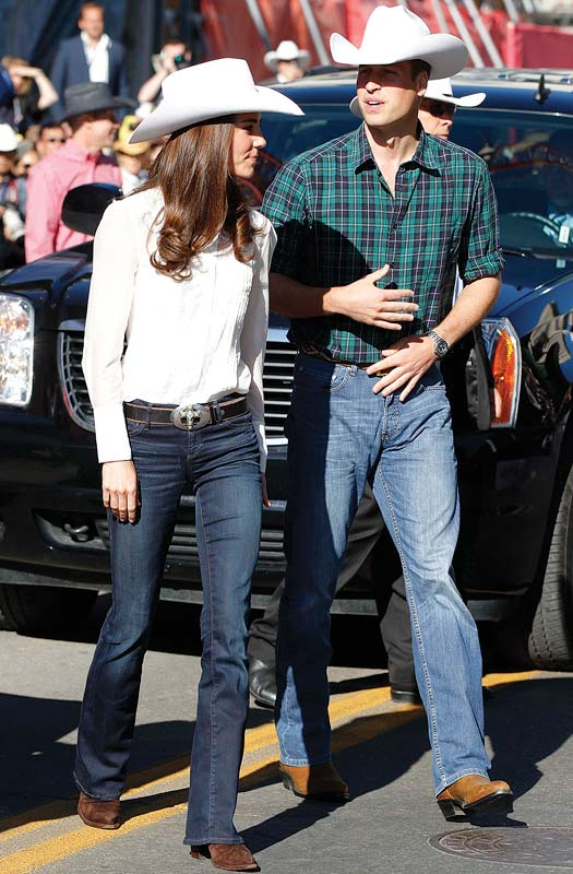 Catherine, Duchess of Cambridge and Prince William, Duke of Cambridge arrive at the lauch of the Calgary Stampede on July 8, 2011 in Calgary, Canada