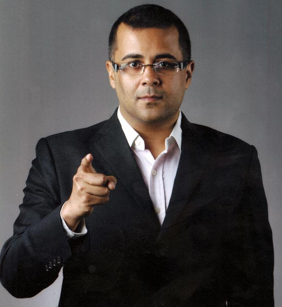 Among other things, Chetan Bhagat sees himself as an opinion leader