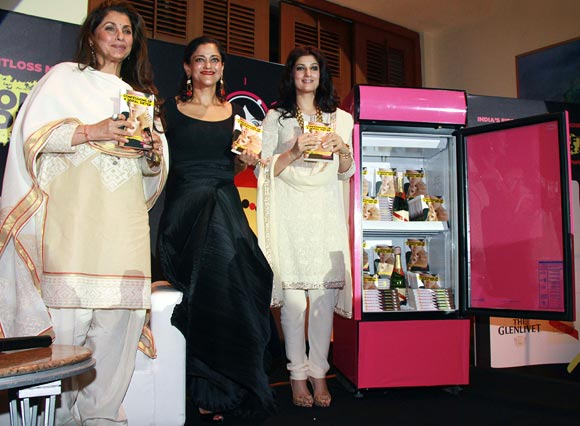 Dimple Kapadia, Kalli Purie and Twinkle Khanna at Purie's book launch