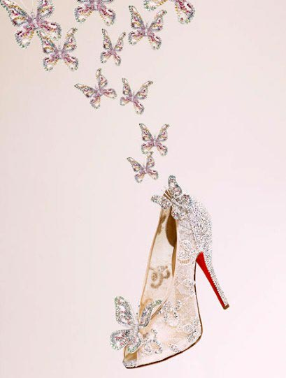 The Cinderella shoes created by Christian Louboutin in association with Disney