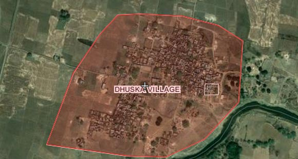 The map of Shailesh's village Dhuska