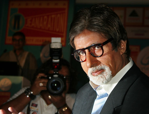 The superstar poses for the shutterbugs at a charity event held in Mumbai