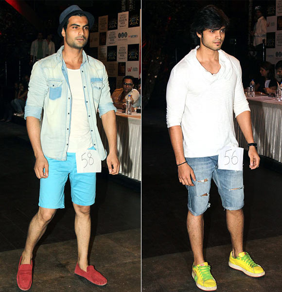 Male models audition for the India Resort Fashion Week