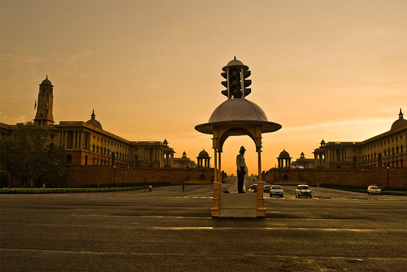 Raisina Hill, New Delhi, the heart of the Indian government