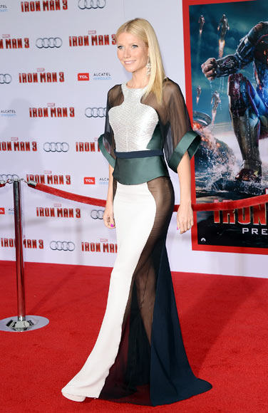 Gwyneth Paltrow at the premiere of Iron Man 3