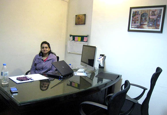 Ritika at her office in New Delhi