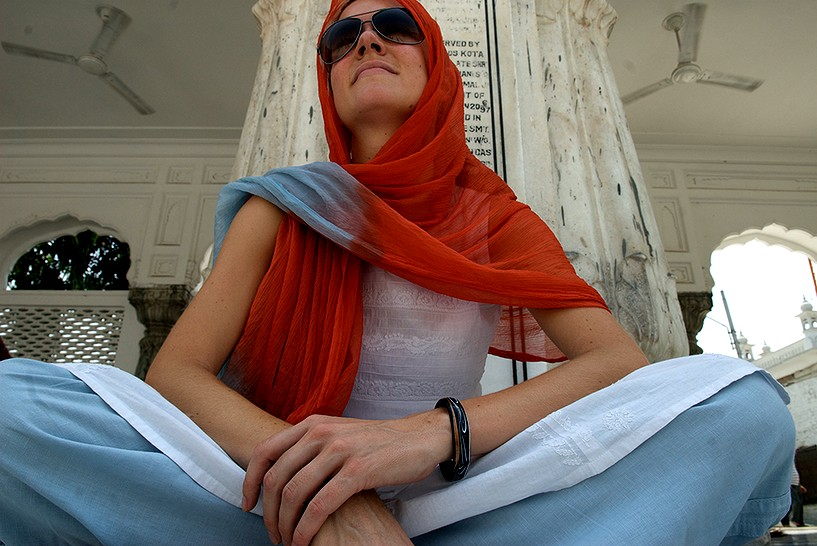 Vanessa Able at the Golden Temple in Amritsar