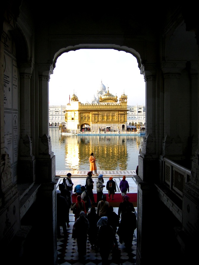 The Golden Temple dazzles in the sun