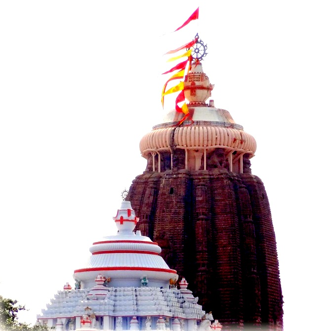 The temple top of Jagannath Temple, Puri