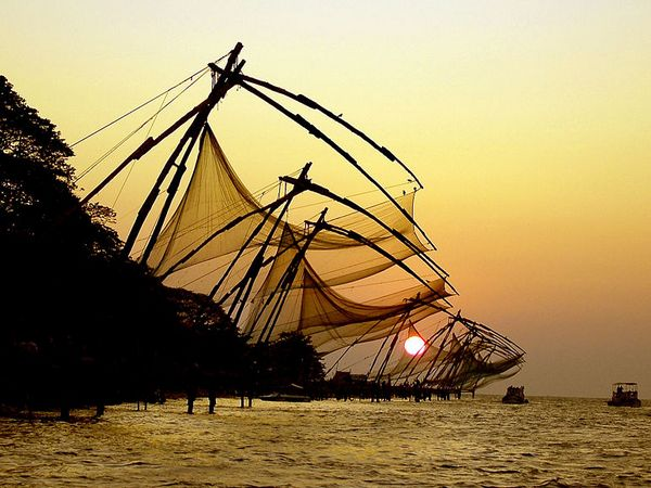 The Chinese fishing nets of Kochi.