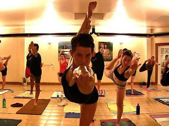Bikram Yoga is practised in an environment with raised temperatures.