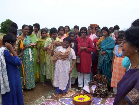 Vandana Gopikumar with the inmates of The Banyan at an outing