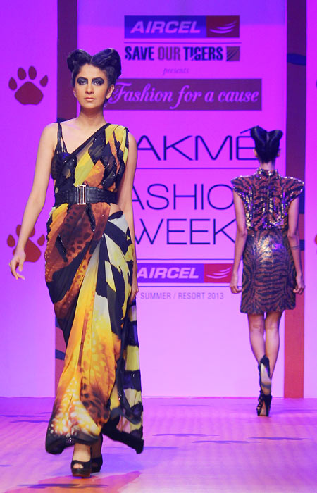 PIX: Neha Dhupia catwalks to Save the Tigers