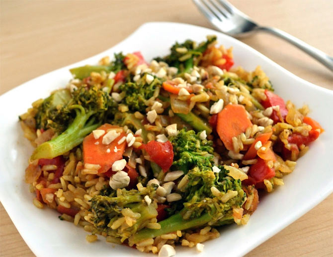 Broccoli and Brown Rice Bake