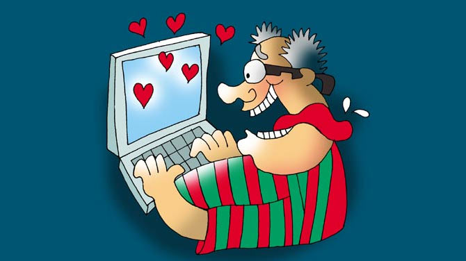 64 per cent people track down their first love via social media