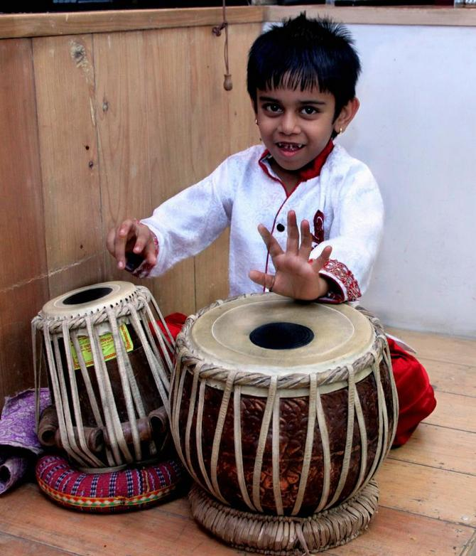 Truptraj Pandya is the world's youngest tabla player.