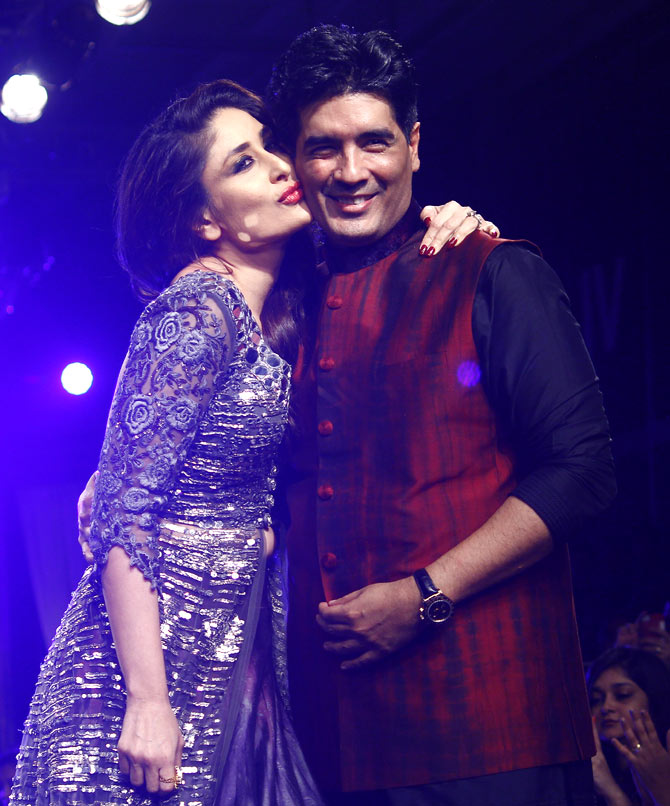 Kareena Kapoor with Manish Malhotra