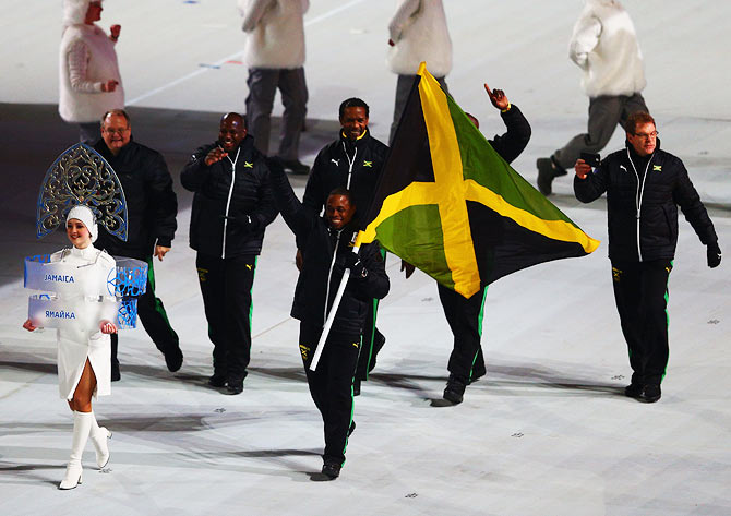 Jamaican athletes at the opening of the Sochi Winter Olympics in Russia. In 2006, Time magazine called Jamaica the most homophobic nation on earth. (Photograph used for representational purposes only.)