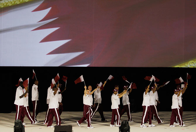 Qatar athletes during the opening ceremony of the first GCC Games. (Photograph used for representational purposes only.)