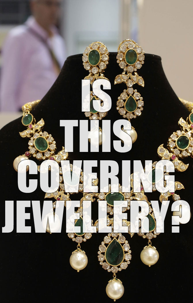 Covering jewellery