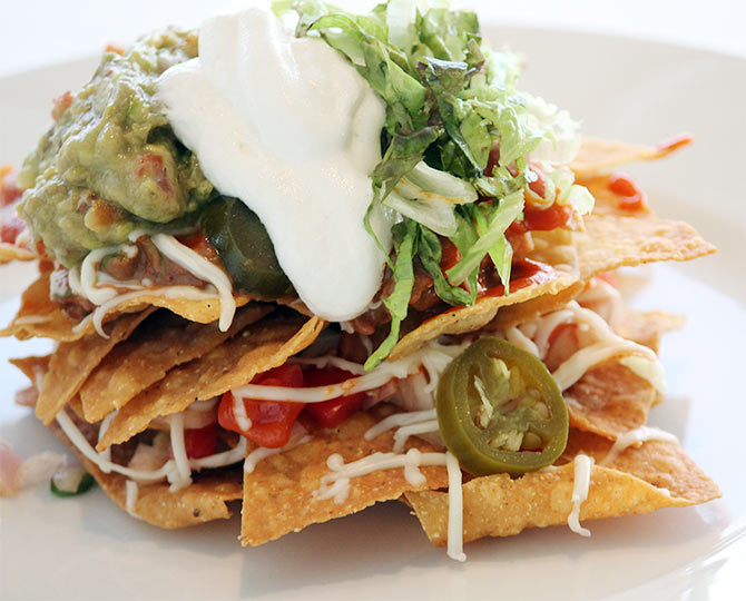 Nachos with pico de gallo