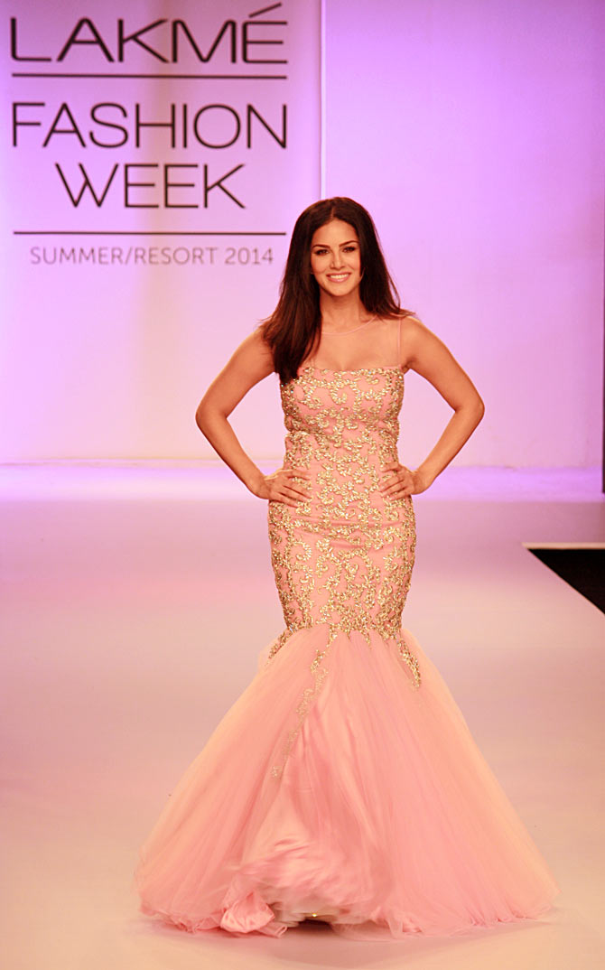 All covered up: Sunny Leone at LFW