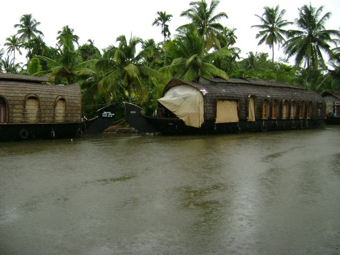 Houseboats at Kumarakom, Kerala