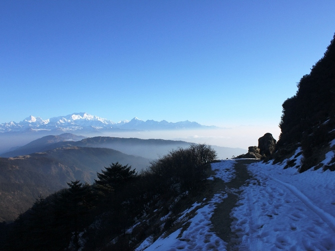 Kangchenjunga, as seen from Sandakphu, West Bengal