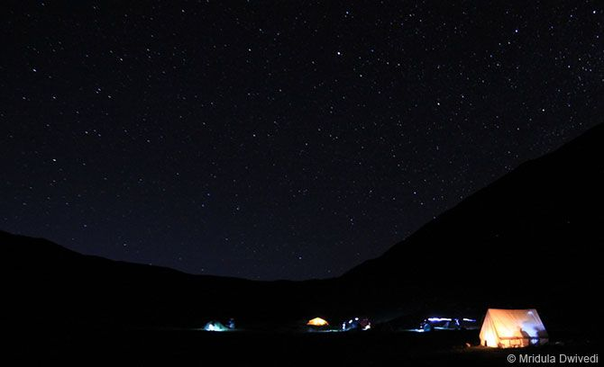 A view of the Himalayan night sky at Batal