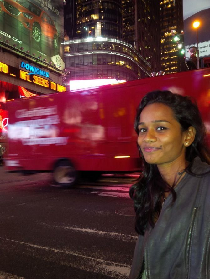 Sheetal Jain at the Times Square