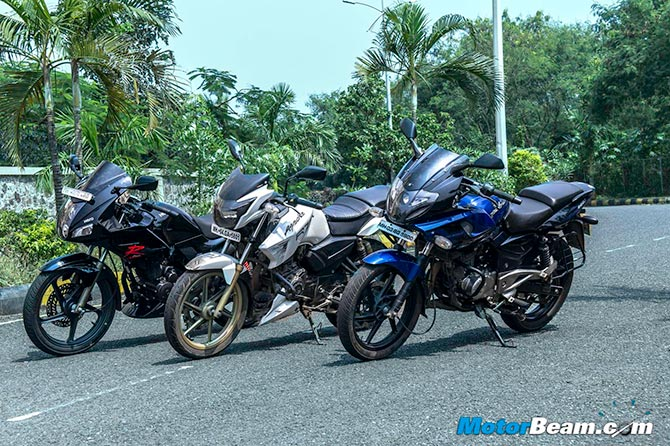 Bike shootout: Pulsar 220 vs Hero Karizma R vs TVS Apache 180