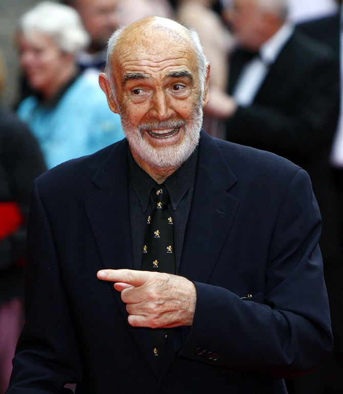 Well in his sixties, Sean Connery was voted Sexiest Man of the 20th Century. Photograph: David Moir/Reuters