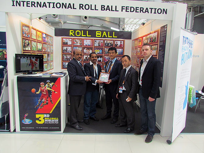 Raju Dabhade at the International Roll Ball Federation in Japan