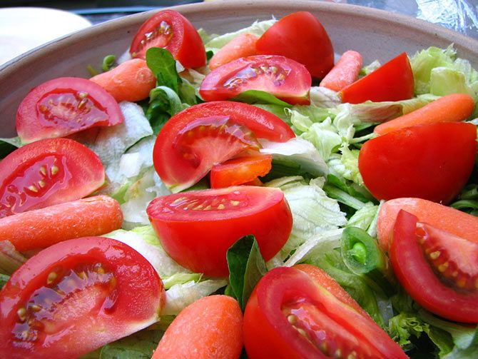 Salad with Honey Mustard Dressing