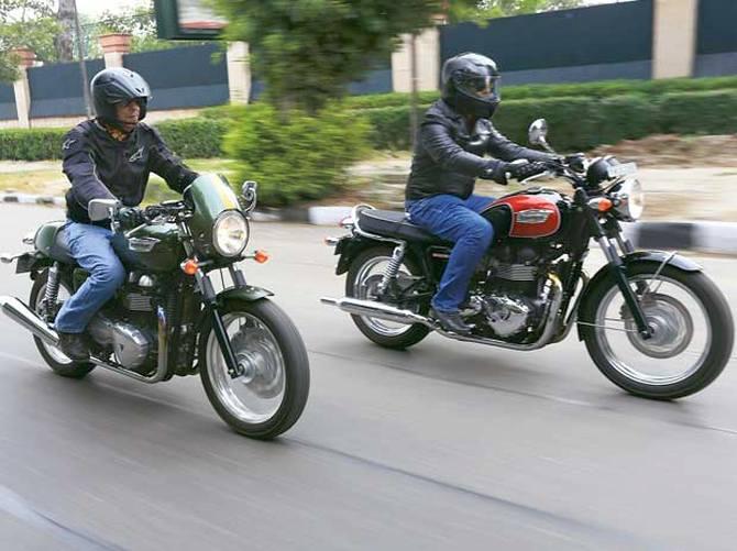 Riding Retro in Delhi