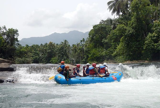 White water rafting in Thusharagiri, Kerala