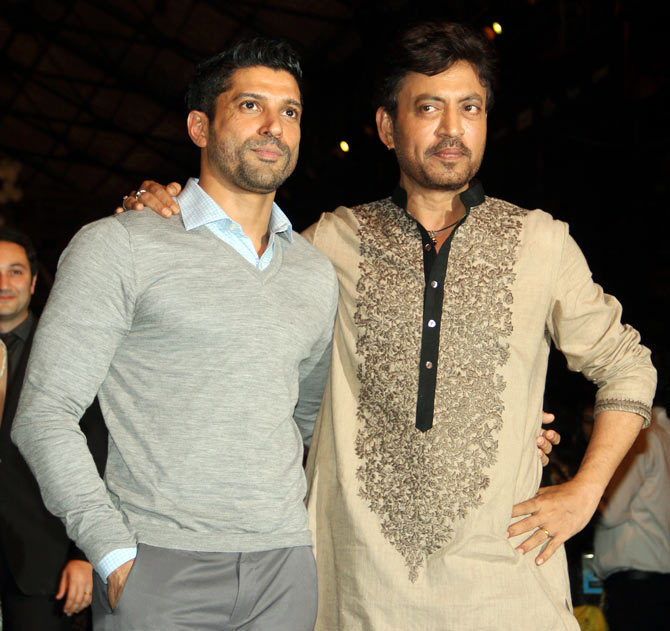 Irrfan Khan and Farhan Akhtar