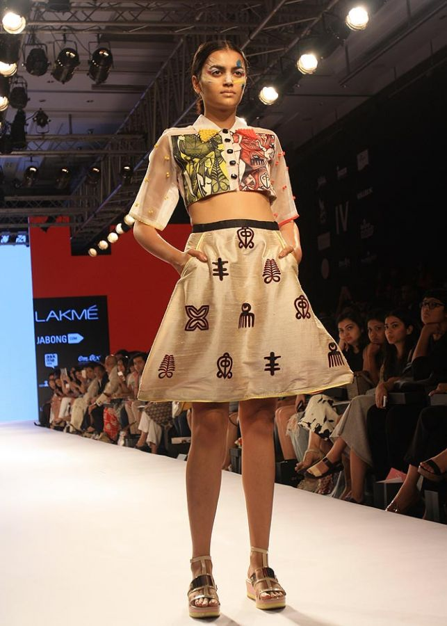 A model in a Salita Nanda creation at Lakme Fashion Week.