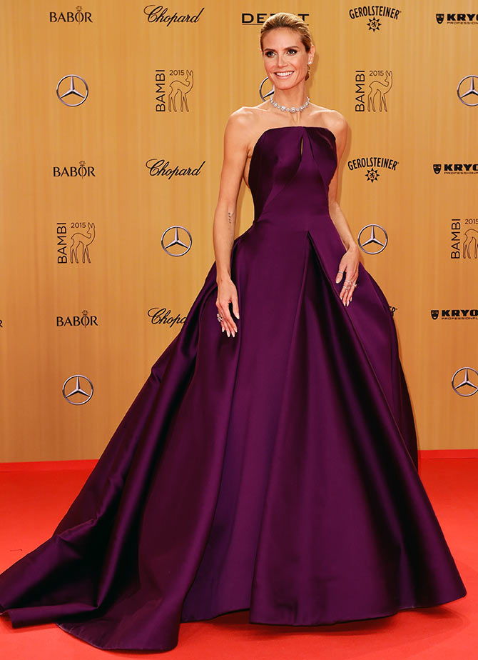Heidi Klum attends the Bambi Awards 2015 at Stage Theater on November 12, 2015 in Berlin, Germany.